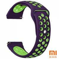 Ремешок Amazfit Bip Nike дизайн (Violet/Green)