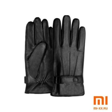 Мужские перчатки Xiaomi Qimian Spanish Lambskin Touch Screen Gloves (Black)