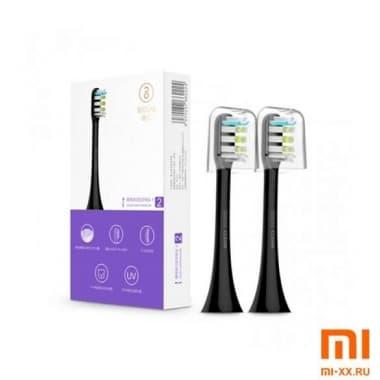 Сменные насадки для зубных щеток Soocas X3 2 шт. (Black)