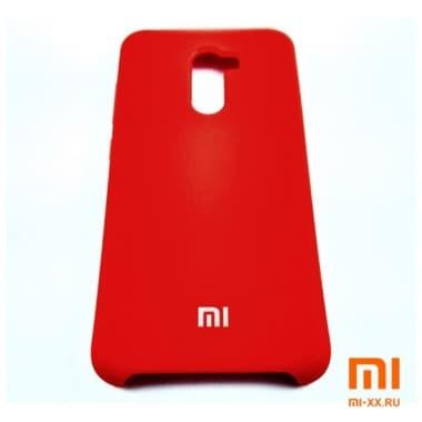 Чехол Бампер Silicone Case Xiaomi Pocophone f1 (Красный)