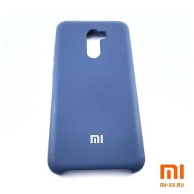 Чехол Бампер Silicone Case Xiaomi Pocophone f1 (Синий)