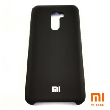 Чехол Бампер Silicone Case Xiaomi Pocophone f1 (Черный)