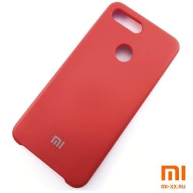 Чехол Бампер Silicone Case Xiaomi mi 8 lite (Красный)