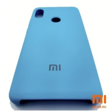 Чехол Бампер Silicone Case Xiaomi Redmi Note 5 pro (Голубой)
