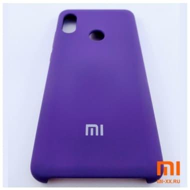 Чехол Бампер Silicone Case Xiaomi Redmi Note 5 pro (Фиолетовый)