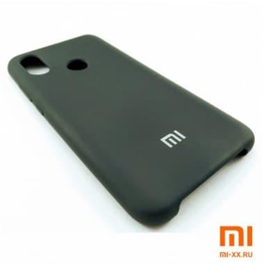 Чехол Бампер Silicone Case Xiaomi mi 8 (Черный)