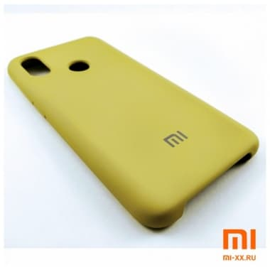 Чехол Бампер Silicone Case Xiaomi mi 8 (Золотой)