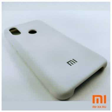 Чехол Бампер Silicone Case Xiaomi mi 8 (Белый)