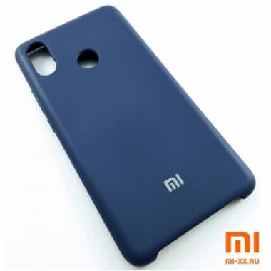 Чехол Бампер Silicone Case Xiaomi Mi Max 3 (Синий)