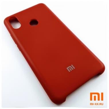Чехол Бампер Silicone Case Xiaomi Mi Max 3 (Красный)