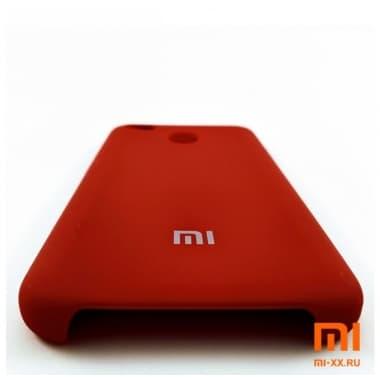 Чехол Бампер Silicone Case Xiaomi Redmi 4x (Красный)