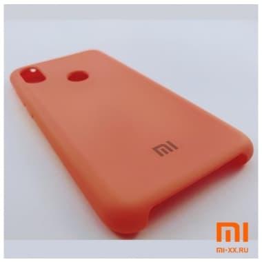 Чехол Бампер Silicone Case Xiaomi Redmi Note 6 pro (Оранжевый)