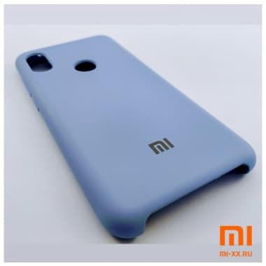 Чехол Бампер Silicone Case Xiaomi Redmi Note 6 pro (Голубой)