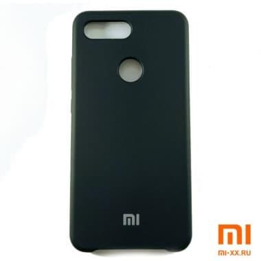 Чехол Бампер Silicone Case Xiaomi mi 8 lite (Черный)