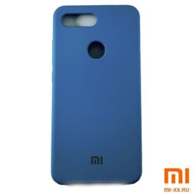 Чехол Бампер Silicone Case Xiaomi mi 8 lite (Голубой)