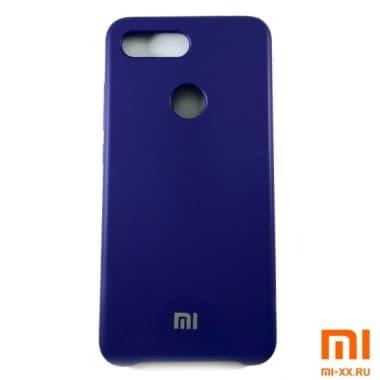 Чехол Бампер Silicone Case Xiaomi mi 8 lite (Фиолетовый)