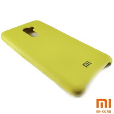 Чехол Бампер Silicone Case Xiaomi Pocophone f1 (Жёлтый)
