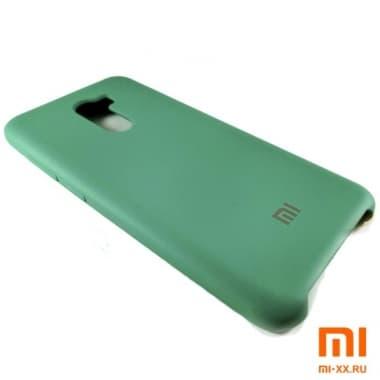 Чехол Бампер Silicone Case Xiaomi Pocophone f1 (Зелёный)