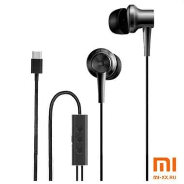 Наушники Xiaomi Mi ANC и Type-C In-Ear Earphones (Black)