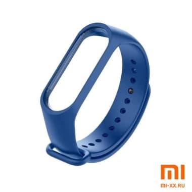 Силиконовый ремешок для Xiaomi Mi Band 3/Mi Band 4 (Blue)