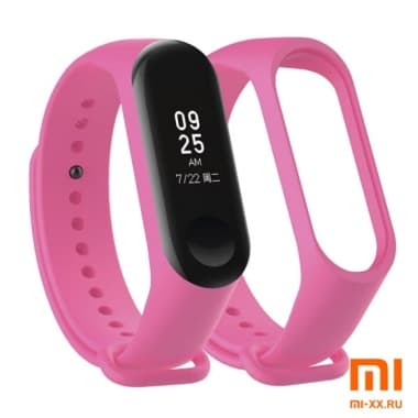 Силиконовый ремешок для Xiaomi Mi Band 3/Mi Band 4 (Pink)