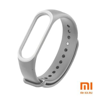 Силиконовый ремешок для Xiaomi Mi Band 3/Mi Band 4 (Grey)