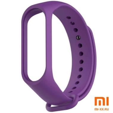 Силиконовый ремешок для Xiaomi Mi Band 3/Mi Band 4 (Purple)