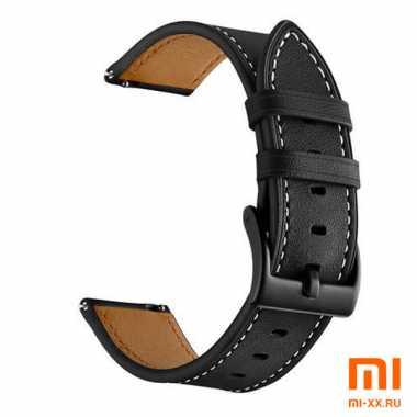Кожаный ремешок для Amazfit Bip (Black)
