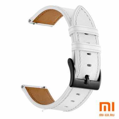 Кожаный ремешок для Amazfit Bip (White)