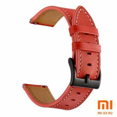 Кожаный ремешок для Amazfit Bip (Red)