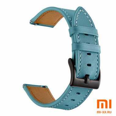 Кожаный ремешок для Amazfit Bip (Blue)
