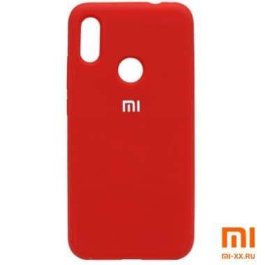 Силиконовый бампер Silicone Case для Xiaomi Redmi Note 7 (Красный)