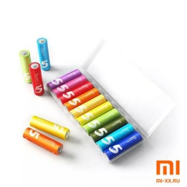 Алкалиновые батарейки Xiaomi Zi5 AA 10 шт