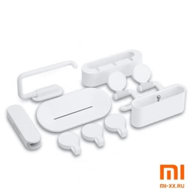 Набор для ванной с крючками Bathroom Set Series Combination of the Loading (White)