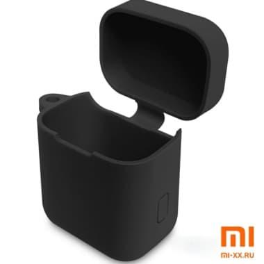 Силиконовый чехол для наушников Xiaomi Air Mi True Wireless Earphones (Black)