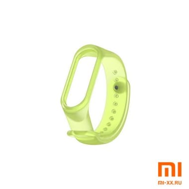 Ремешок Xiaomi Mi Band 3/4 Прозрачный (Green)