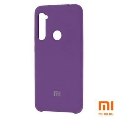 Силиконовый бампер Silicone Case для Xiaomi Redmi Note 8 (Фиолетовый)