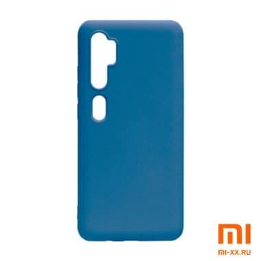 Силиконовый бампер Silicone Case для Xiaomi Mi 10 (Синий)