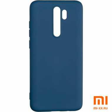 Силиконовый бампер Silicone Case для Xiaomi Redmi Note 8 Pro (Синий)