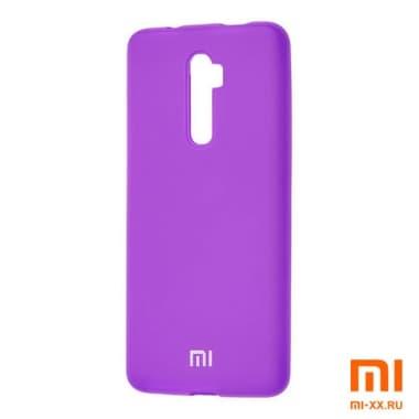 Силиконовый бампер Silicone Case для Xiaomi Redmi Note 8 Pro (Фиолетовый)
