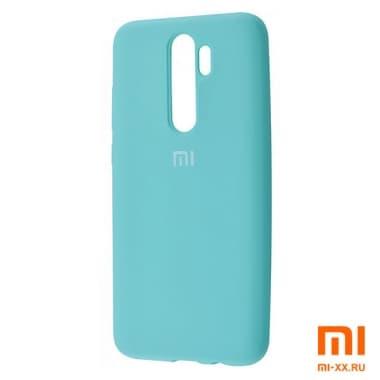 Силиконовый бампер Silicone Case для Xiaomi Redmi Note 8 Pro (Мятный)