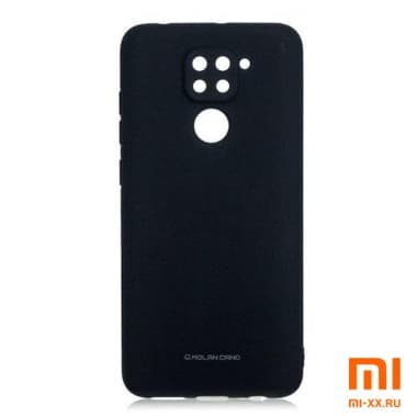 Силиконовый бампер Silicone Case для Xiaomi Redmi Note 9 (Черный)