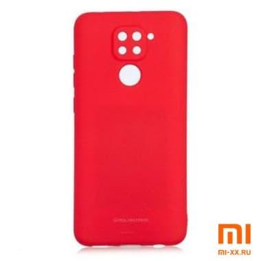 Силиконовый бампер Silicone Case для Xiaomi Redmi Note 9 (Красный)