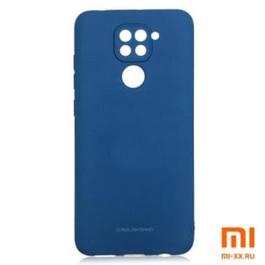 Силиконовый бампер Silicone Case для Xiaomi Redmi Note 9 (Синий))