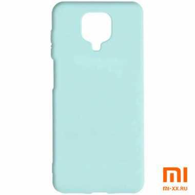 Силиконовый бампер Silicone Case для Xiaomi Redmi Note 9 Pro (Мятный)