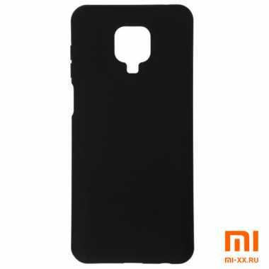 Силиконовый бампер Silicone Case для Xiaomi Redmi Note 9 Pro (Черный)
