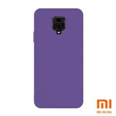 Силиконовый бампер Silicone Case для Xiaomi Redmi Note 9 Pro (Фиолетовый)