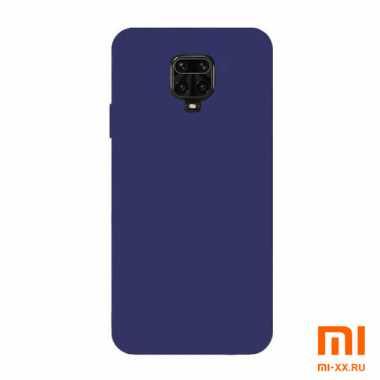 Силиконовый бампер Silicone Case для Xiaomi Redmi Note 9 Pro (Синий)