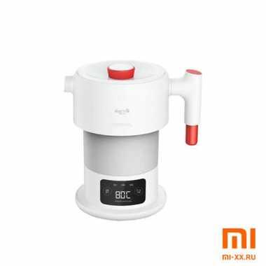 Складной чайник Deerma DH206 Collapsible Silicone Kettle DH206/207 (White)