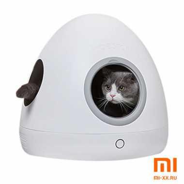 Умный домик для кошек Moestar Spaceship с подогревом (White)